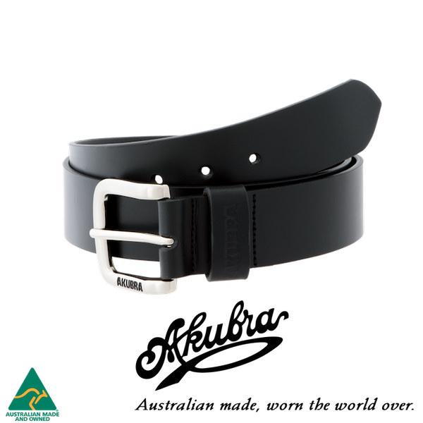 AKUBRA Leather Belt: KEMPSEY - black