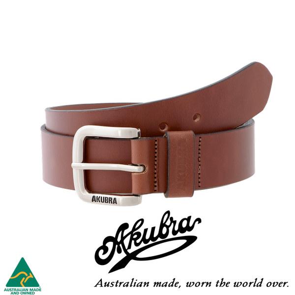 AKUBRA Leather Belt: KEMPSEY - tan