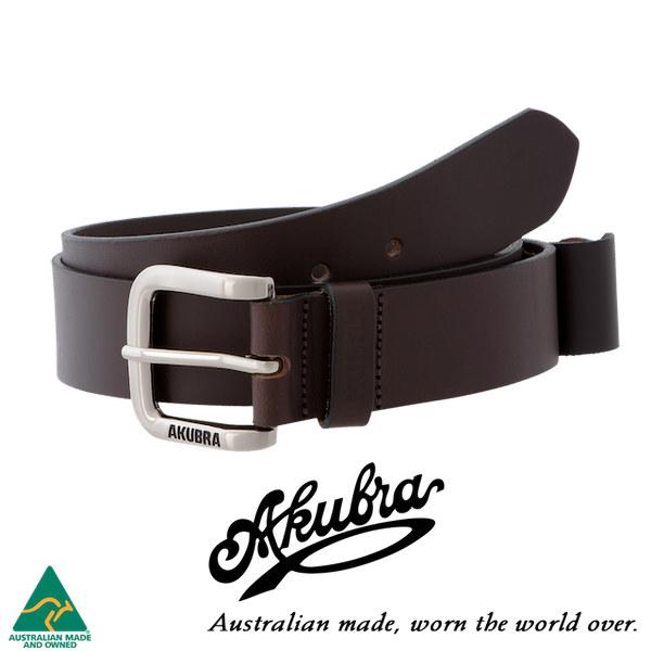 AKUBRA Leather Belt: KOALA - brown