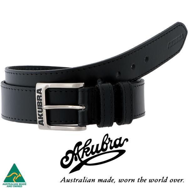 AKUBRA Leather Belt: STEVE - black