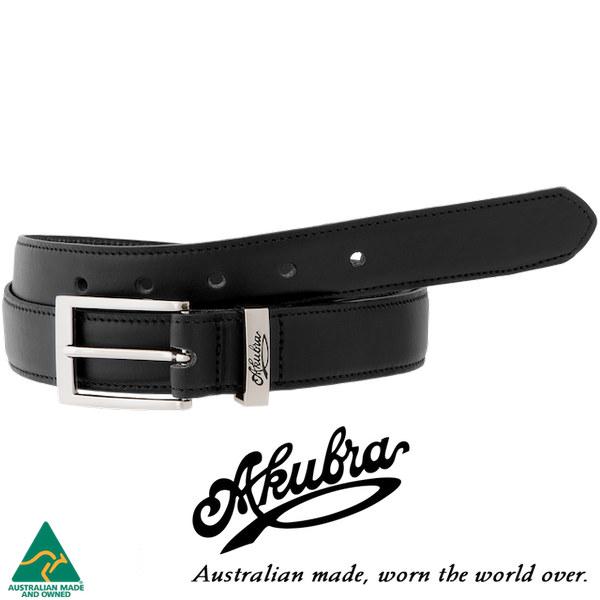 AKUBRA Leather Belt: SYDNEY - black
