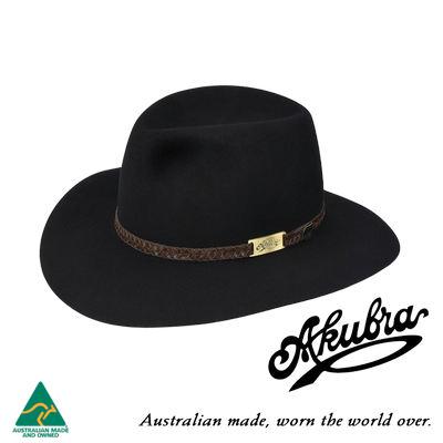 AKUBRA Felt Hat: Avalon - Black