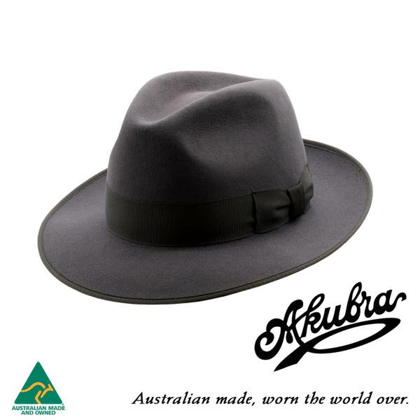 AKUBRA Felt Hat: Bogart - Carbon