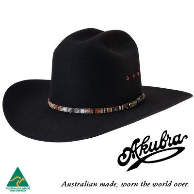 AKUBRA Felt Hat: Bronco - Black