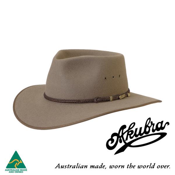 AKUBRA Felt Hat: Cattleman - Bran
