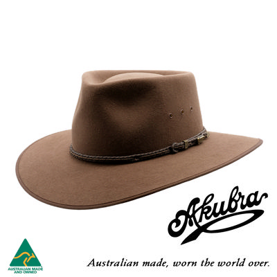 AKUBRA Felt Hat: Cattleman - Fawn