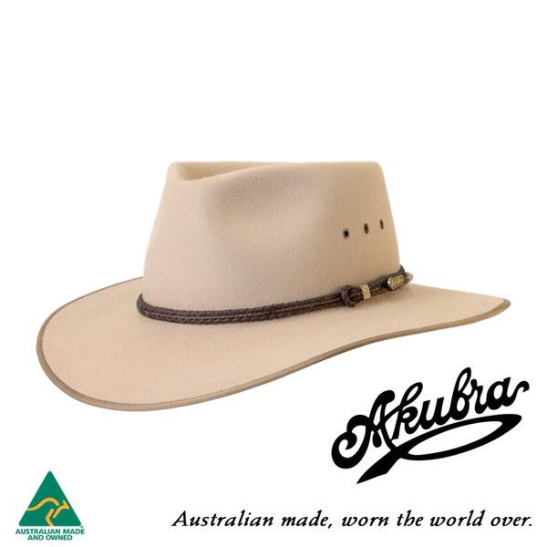 AKUBRA Felt Hat: Cattleman - Sand
