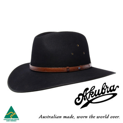 AKUBRA Felt Hat: Coober Pedy - Black
