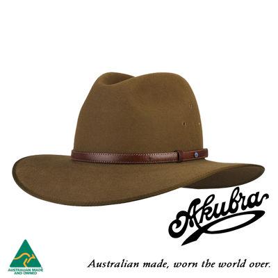 AKUBRA Felt Hat: Coober Pedy - Khaki