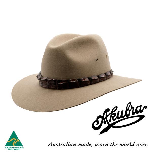 AKUBRA Felt Hat: COOLABAH - bran