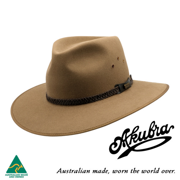 AKUBRA Felt Hat: TABLELANDS - sorrel tan
