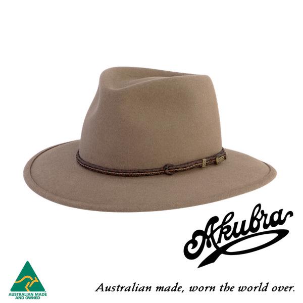 AKUBRA Felt Hat: TRAVELLER - bran