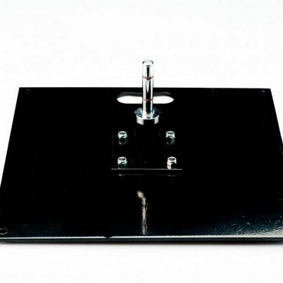Solid Steel Cast Base Plate, Corner Holes Drilled