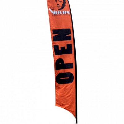 Feather Flag Banner (Angle Or Flat) - Large 80X421