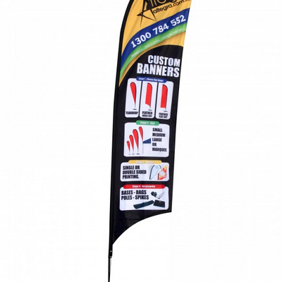 Feather Flag Banner (Angle Or Flat) - Medium 75X31