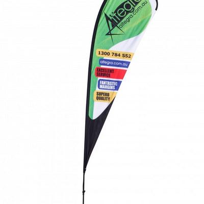 Teardrop Flag Banner - Large 121X367cm