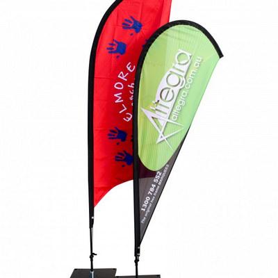 Teardrop Flag Banner - Small 80X194cm