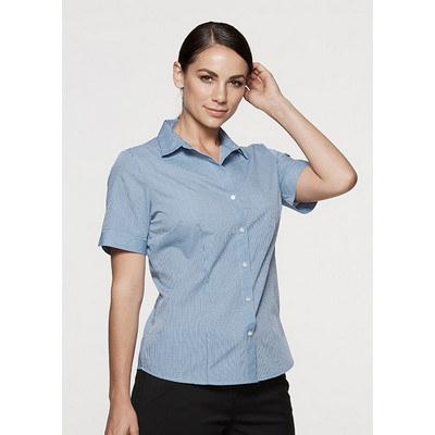 Aussie Pacific Ladies Toorak Check Short Sleeve Sh