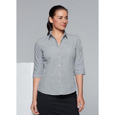 Aussie Pacific Ladies Toorak Check 3/4 Sleeve Shir