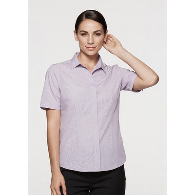 Aussie Pacific Ladies Grange MiTong Check Short Sl