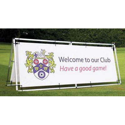 Double Sided Vinyl Banner with Aluminium Stand 850