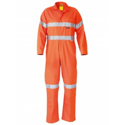 Bisley 3M Taped Hi Vis Lightweight Coverall
