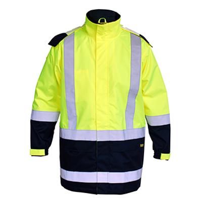 Bisley Taped Two Tone Hi Vis Rain Shell Jacket