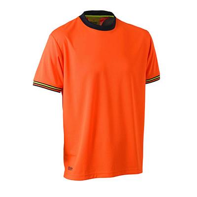 Bisley Hi Vis Polyester Mesh Short Sleeve T-Shirt