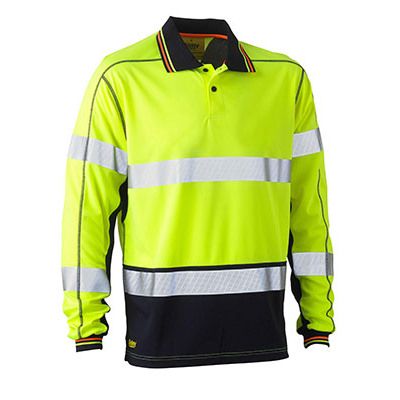 Bisley Taped Two Tone Hi Vis Polyester Mesh Long