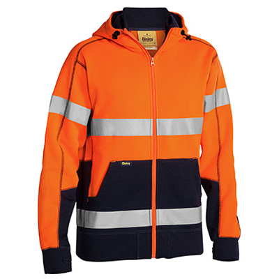 Bisley Taped Hi Vis Fleece Hoodie