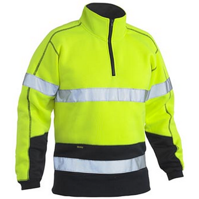 Bisley Hi Vis Taped Fleece Zip Pullover