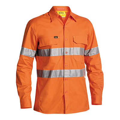 Bisley 3M Taped Hi Vis X Airflow Ripstop Shirt - L
