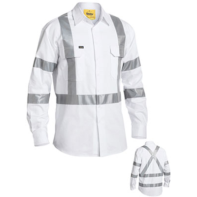 Bisley 3M Taped Night Drill Shirt - Long Sleeve