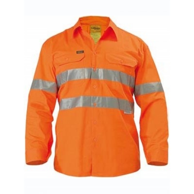 Bisley 3M Taped Cool Lightweight Hi Vis Drill Shir
