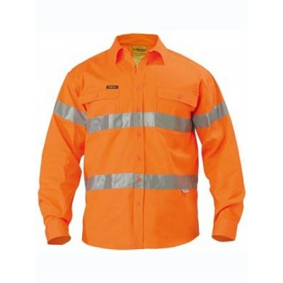 Bisley 3M Taped Hi Vis Drill Shirt - Long Sleeve
