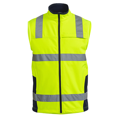 Bisley Taped Hi Vis Soft Shell Vest