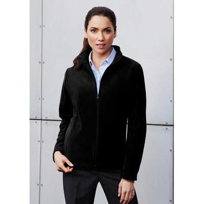 Ladies Plain Micro Fleece Jacket