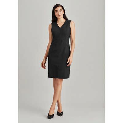 Womens Sleeveless V Neck Dress