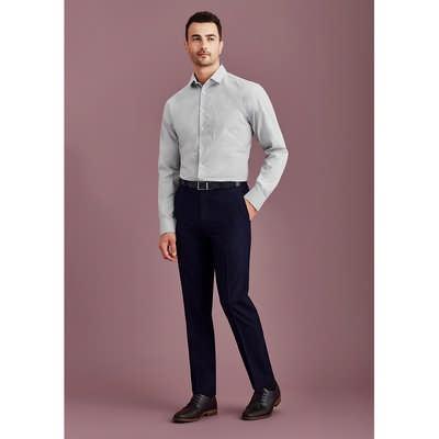 Mens Slim Fit Flat Front Pant Stout