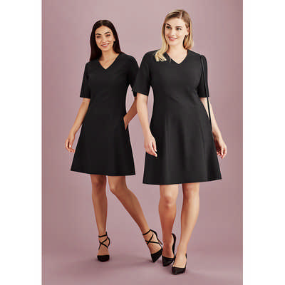 Womens Siena Extended Sleeve Dress