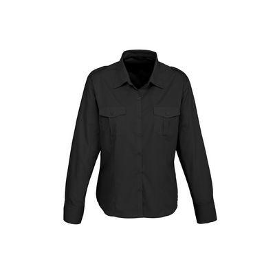 Ladies Epaulette Long Sleeve Shirt
