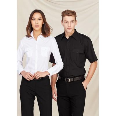 Mens Epaulette Short Sleeve Shirt