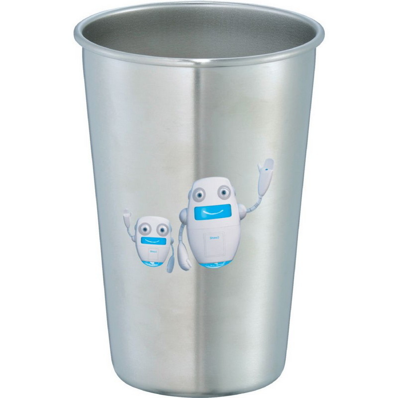 Growl Stainless Pint Glass 16oz