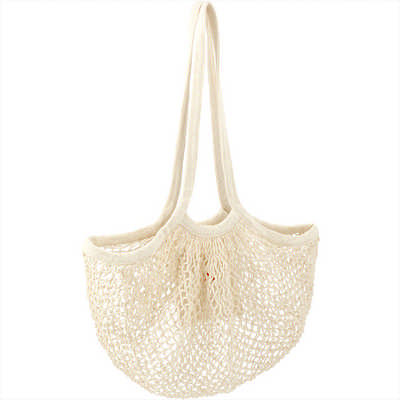 Riviera Cotton Mesh Market Bag w/ Zippered Pouch