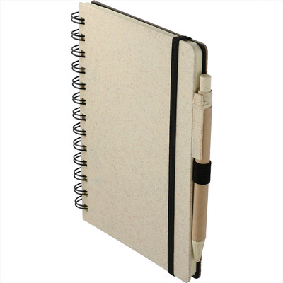 5 x 7 Wheat Straw Notebook With Pen