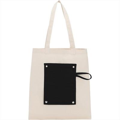 6oz Cotton Canvas Packable Snap Tote