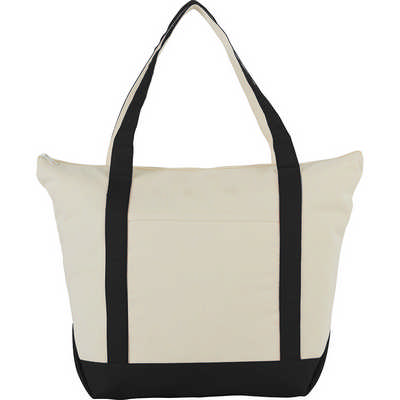 12 oz. Zippered Cotton Canvas Tote