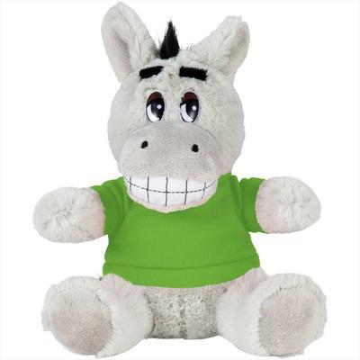 6 inch Plush Donkey with Shirt