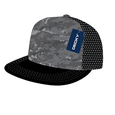 5 Panel Flat Bill Trucker Hat