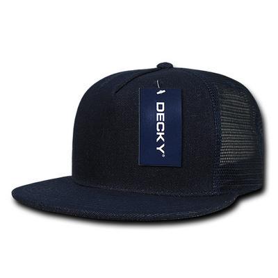 5 Panel Denim Trucker Hat